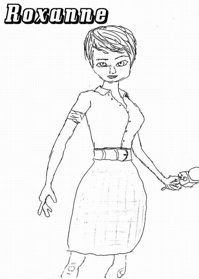 Coloriage et dessins gratuits Roxanne La journaliste à imprimer