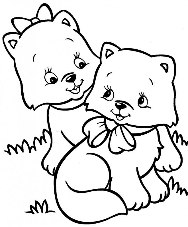 Coloriage et dessins gratuits Bébé Chien à imprimer