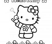 Coloriage Facile Hello Kitty