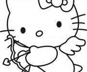 Coloriage et dessins gratuit Hello Kitty à imprimer gratuitement à imprimer