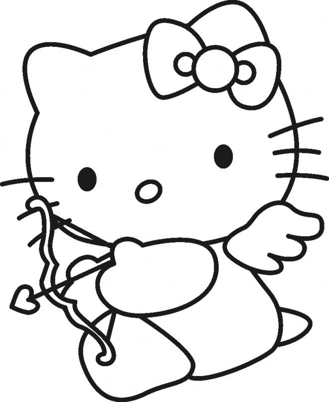 Coloriage et dessins gratuits Hello Kitty à imprimer gratuitement à imprimer