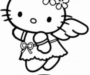 Coloriage Hello Kitty Ange