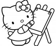 Coloriage Hello Kitty magique