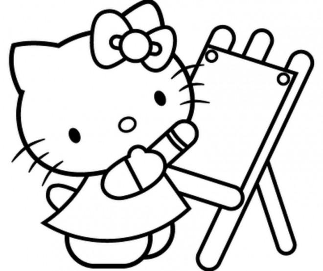 Coloriage Magique Hello Kitty.Coloriage Hello Kitty Magique Dessin Gratuit A Imprimer