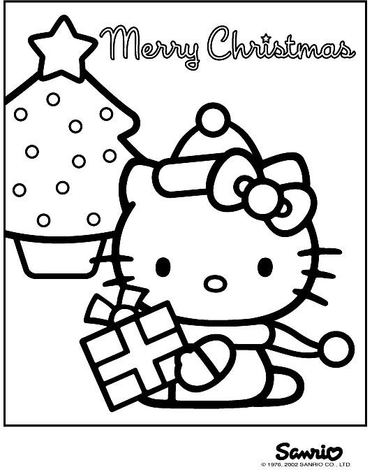 Coloriage et dessins gratuits Hello Kitty Noel à colorier à imprimer