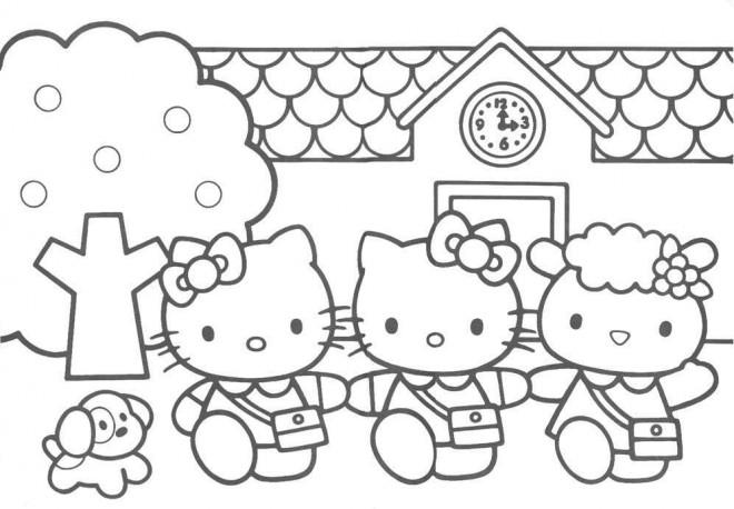 Coloriage et dessins gratuits Minou à L'école à imprimer