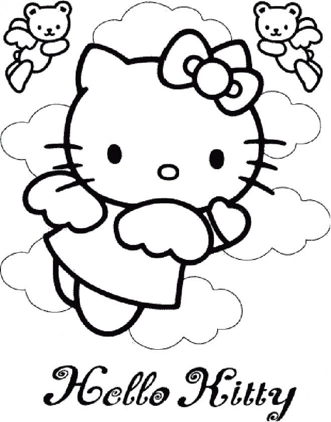 Coloriage et dessins gratuits Minou Ange pour Enfant à imprimer