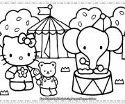 Coloriage Minou au cirque