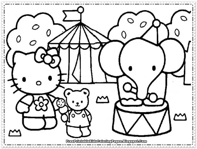 Coloriage et dessins gratuits Minou au cirque à imprimer