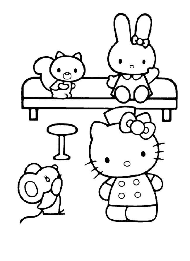 Coloriage et dessins gratuits Minou au Jardin à imprimer
