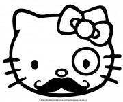 Coloriage Minou avec Moustache
