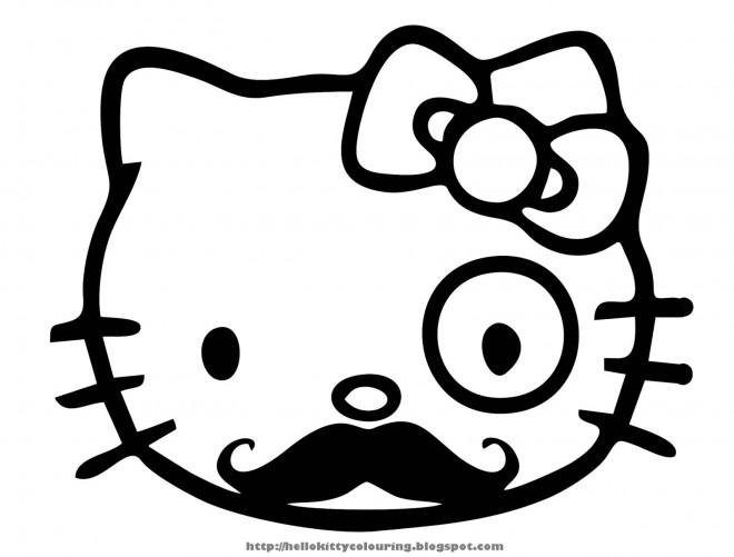 Coloriage et dessins gratuits Minou avec Moustache à imprimer
