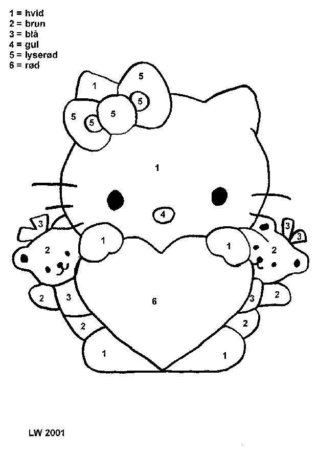 Coloriage et dessins gratuits Minou avec Un gros d'amour à imprimer