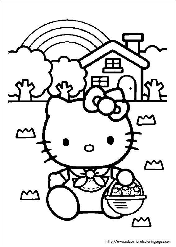 Coloriage et dessins gratuits Minou collecte Les Fraises à imprimer