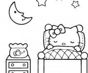 Coloriage Minou en train de Dormir