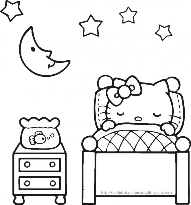 Coloriage et dessins gratuits Minou en train de Dormir à imprimer
