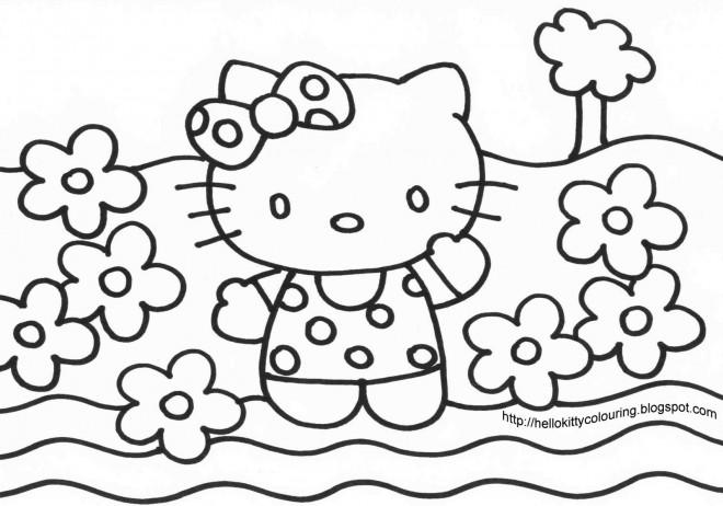 Coloriage et dessins gratuits Minou Fleur à imprimer