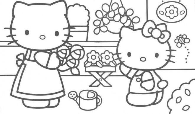 Coloriage et dessins gratuits Minou Fleuriste à imprimer