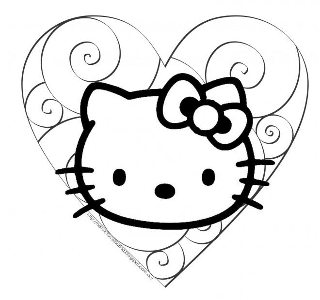 Coloriage et dessins gratuits Minou Hello Kitty à imprimer
