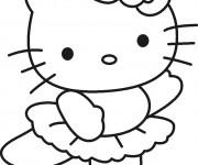 Coloriage Minou Hello Kitty danse