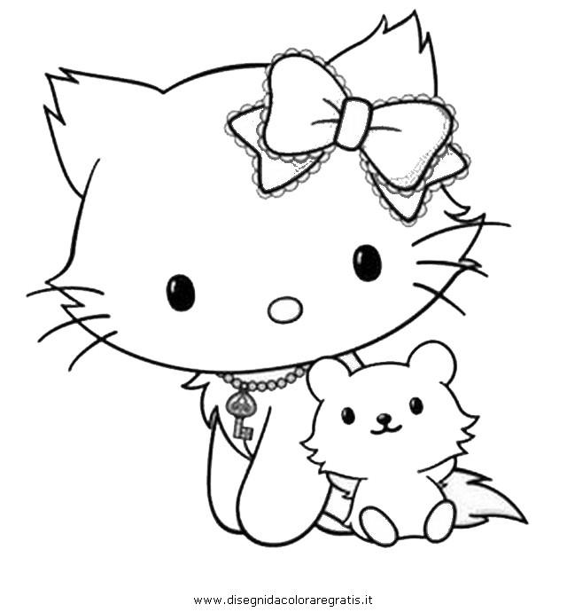 Coloriage et dessins gratuits Minou mignonne à imprimer