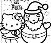 Coloriage Minou Noel à télécharger