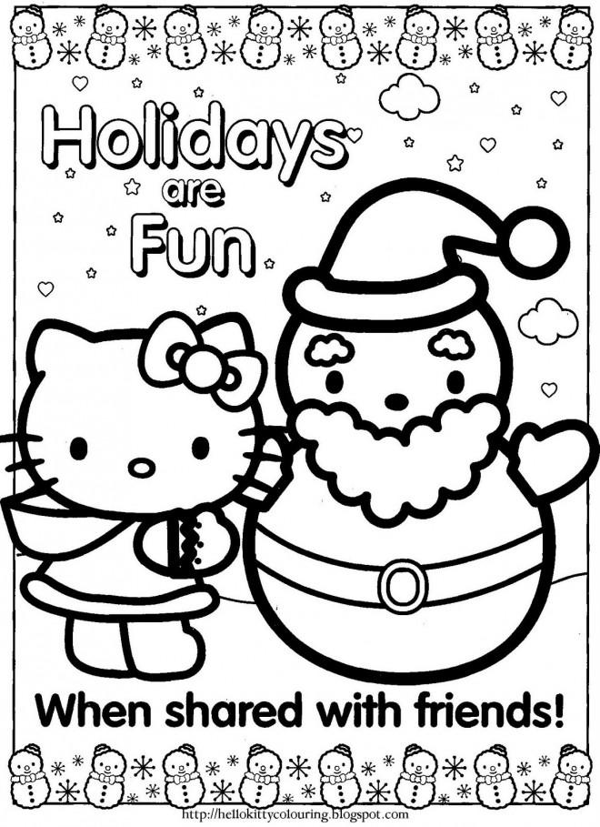 Coloriage et dessins gratuits Minou Noel à télécharger à imprimer
