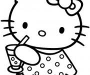Coloriage Minou Petite Chatte