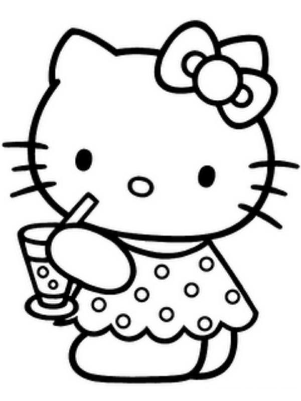 Coloriage et dessins gratuits Minou Petite Chatte à imprimer
