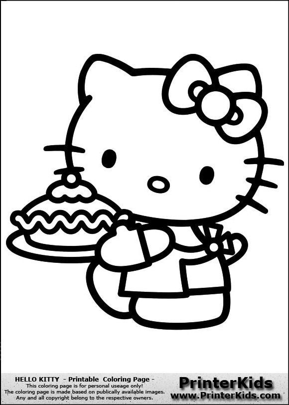 Coloriage et dessins gratuits Minou prépare Une Tarte à imprimer