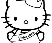 Coloriage Minou Princesse mignonne