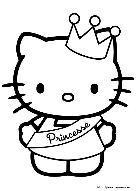 Coloriage et dessins gratuits Minou Princesse mignonne à imprimer