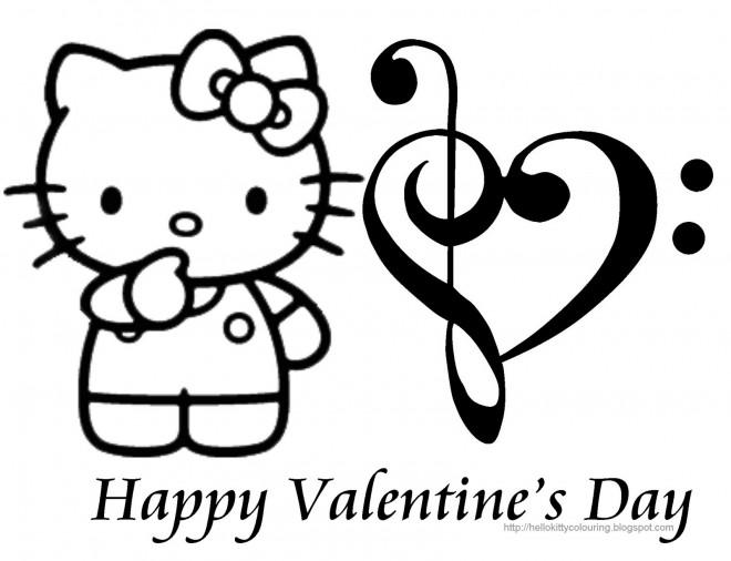 Coloriage et dessins gratuits Minou Saint-Valentin à imprimer