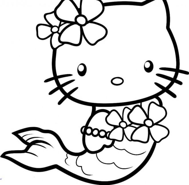 Coloriage et dessins gratuits Minou Sirène à imprimer