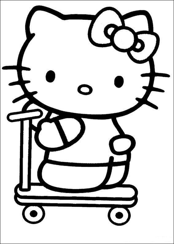 Coloriage et dessins gratuits Minou skateuse à imprimer