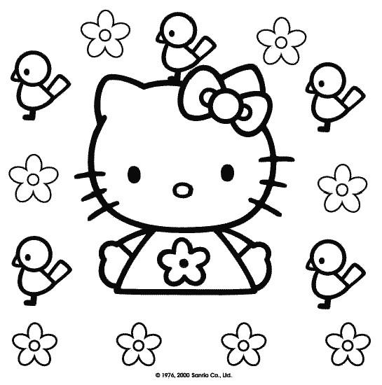 Coloriage et dessins gratuits Minou stylisé à colorier à imprimer