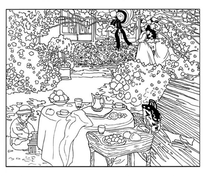 Coloriage et dessins gratuits Adulte Paysage Automne à imprimer