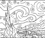 Coloriage et dessins gratuit Delaunay couleur à imprimer