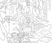 Coloriage et dessins gratuit Monet en noir et blanc à imprimer