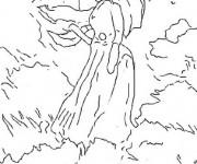 Coloriage et dessins gratuit Monet La promenade à imprimer