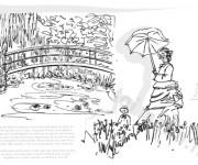 Coloriage et dessins gratuit Monet Le livre à imprimer