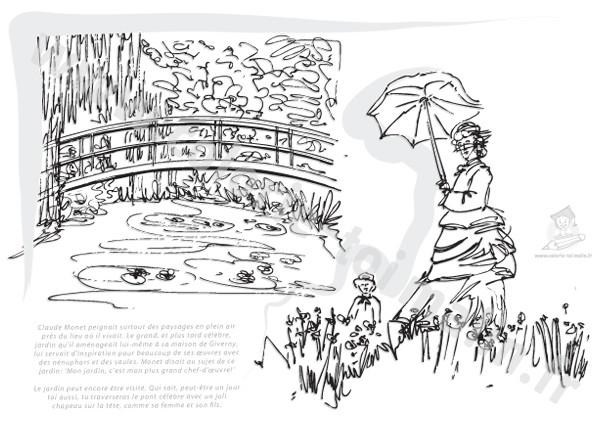 Coloriage et dessins gratuits Monet Le livre à imprimer