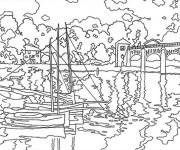 Coloriage et dessins gratuit Monet maternelle à imprimer