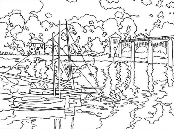 Coloriage et dessins gratuits Monet maternelle à imprimer
