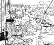 Coloriage et dessins gratuit Paysage Monet à découper à imprimer