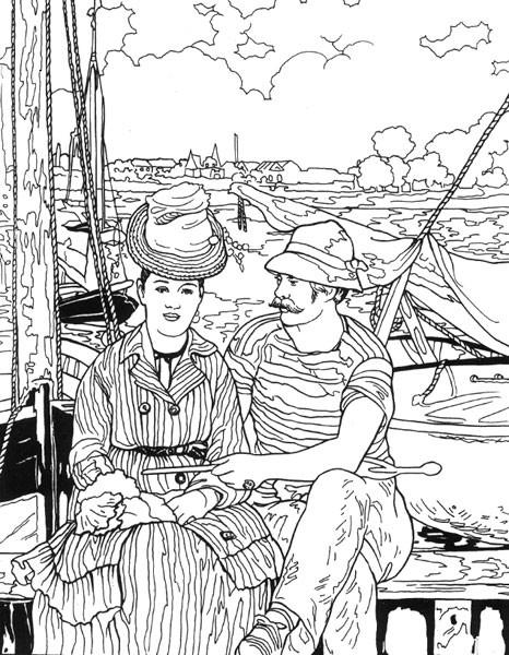 Coloriage et dessins gratuits Paysage Monet à découper à imprimer