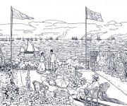Coloriage et dessins gratuit Peinture de Monet à imprimer