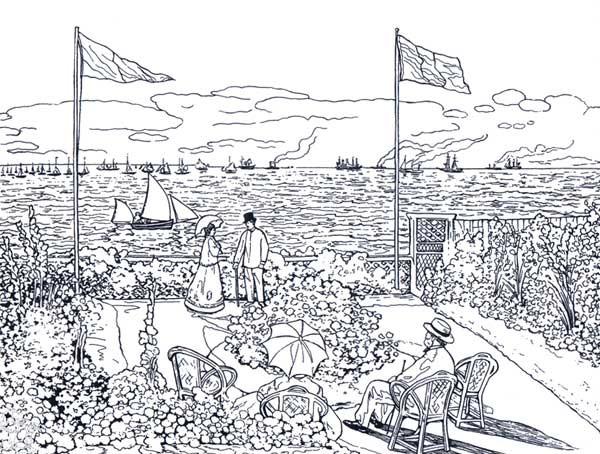 Coloriage et dessins gratuits Peinture de Monet à imprimer
