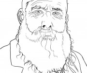 Coloriage Portrait de Monet