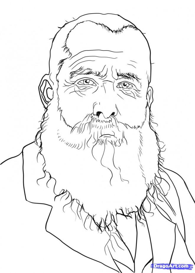 Coloriage et dessins gratuits Portrait de Monet à imprimer